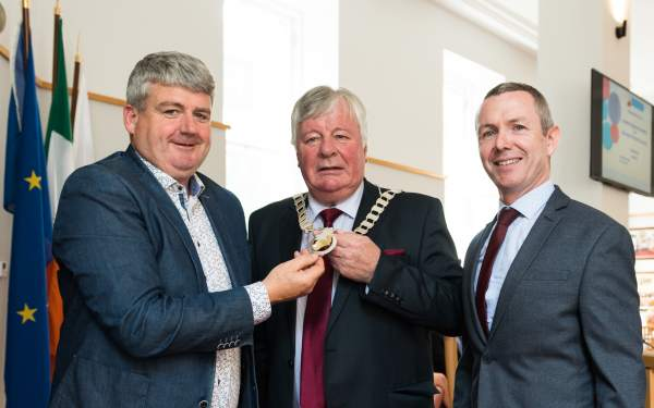 Homepage feature - Cllr. Joe Carroll elected Cathaoirleach